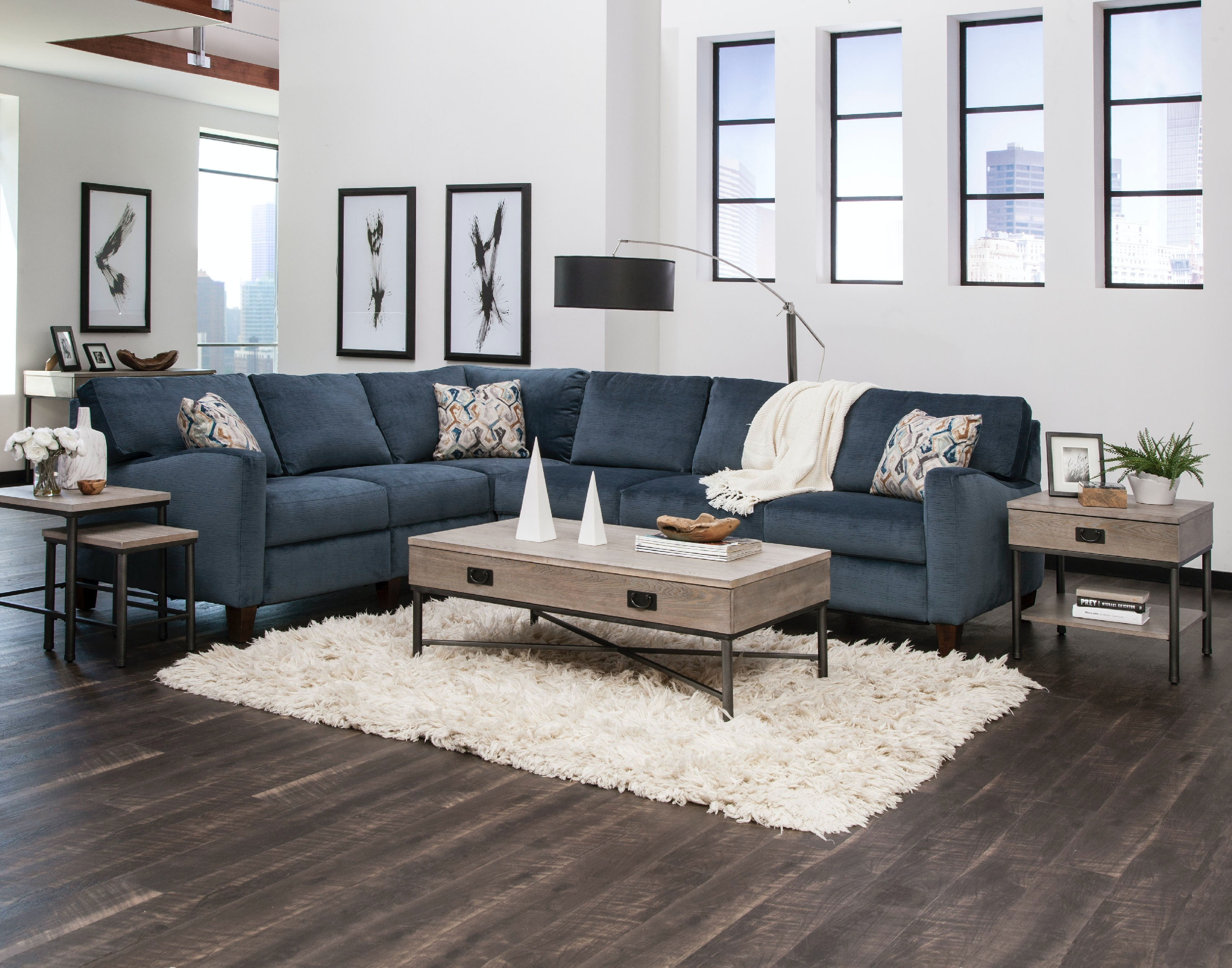 ... Simple Elegance Colleen Sectional 19303 Sectional