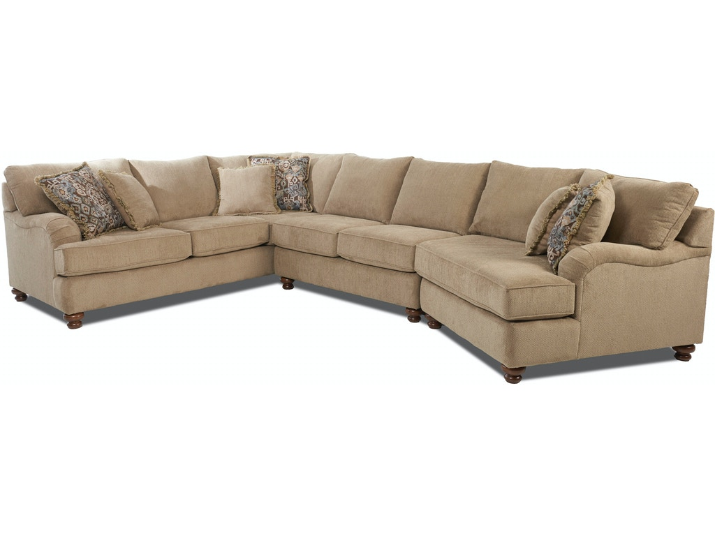 Klaussner Living Room Declan K42200f Sect Goldsteins Furniture Bedding Hermitage Pa Niles