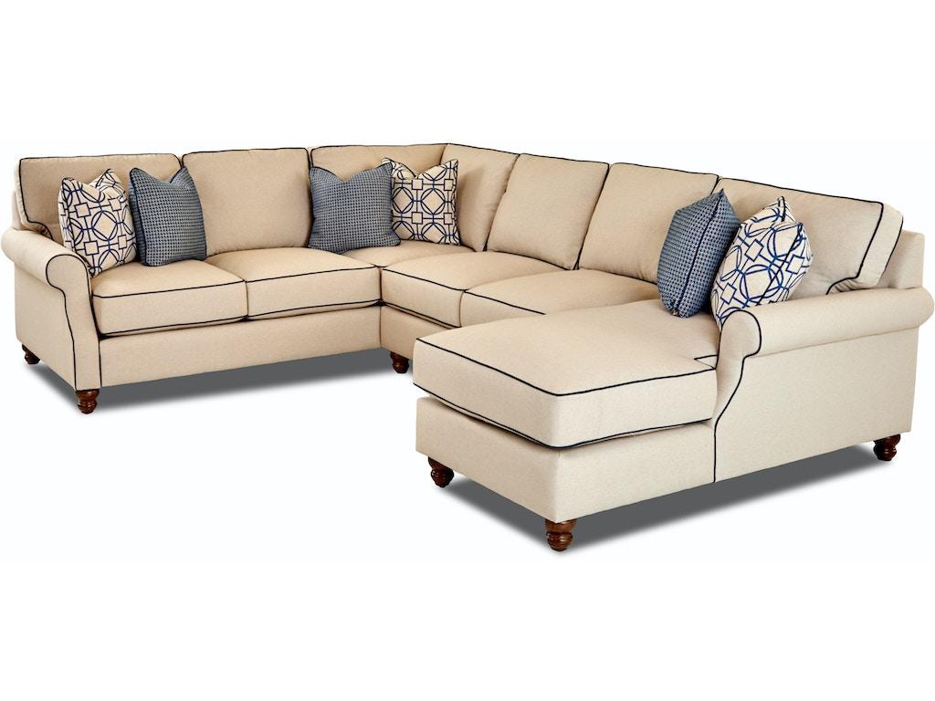 Klaussner Living Room Tifton Sectional D26000 Sect Hanks Fine Furniture Bentonville Ar