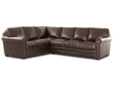 Klaussner Living Room Cassidy Lthr Sectional
