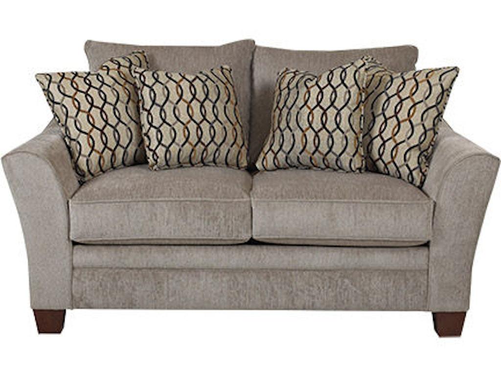 Klaussner Living Room Posen Loveseat 83844 Ls Hanks Fine Furniture Bentonville Ar Conway