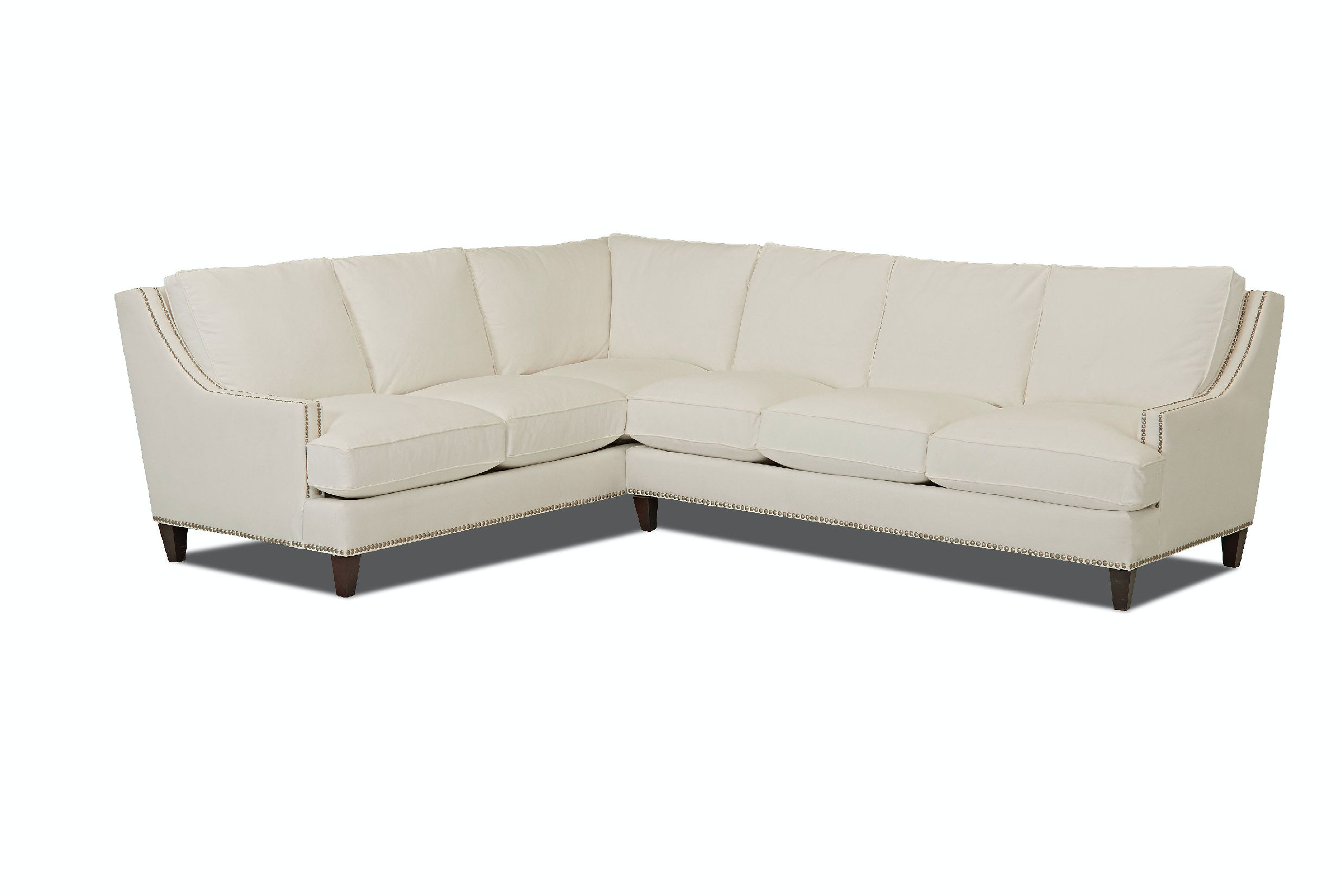 Klaussner Living Room Duchess Sectional D NP FAB SECT