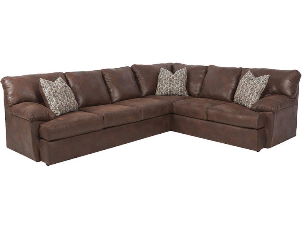 Klaussner Living Room Walton K44500 Fab Sect Hanks Fine