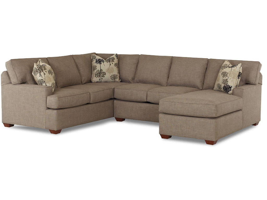 Klaussner Living Room Pantego K51460 Fab Sect Hamilton Sofa Leather Gallery Chantilly