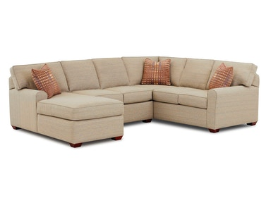 Klaussner Living Room Hybrid Sectional