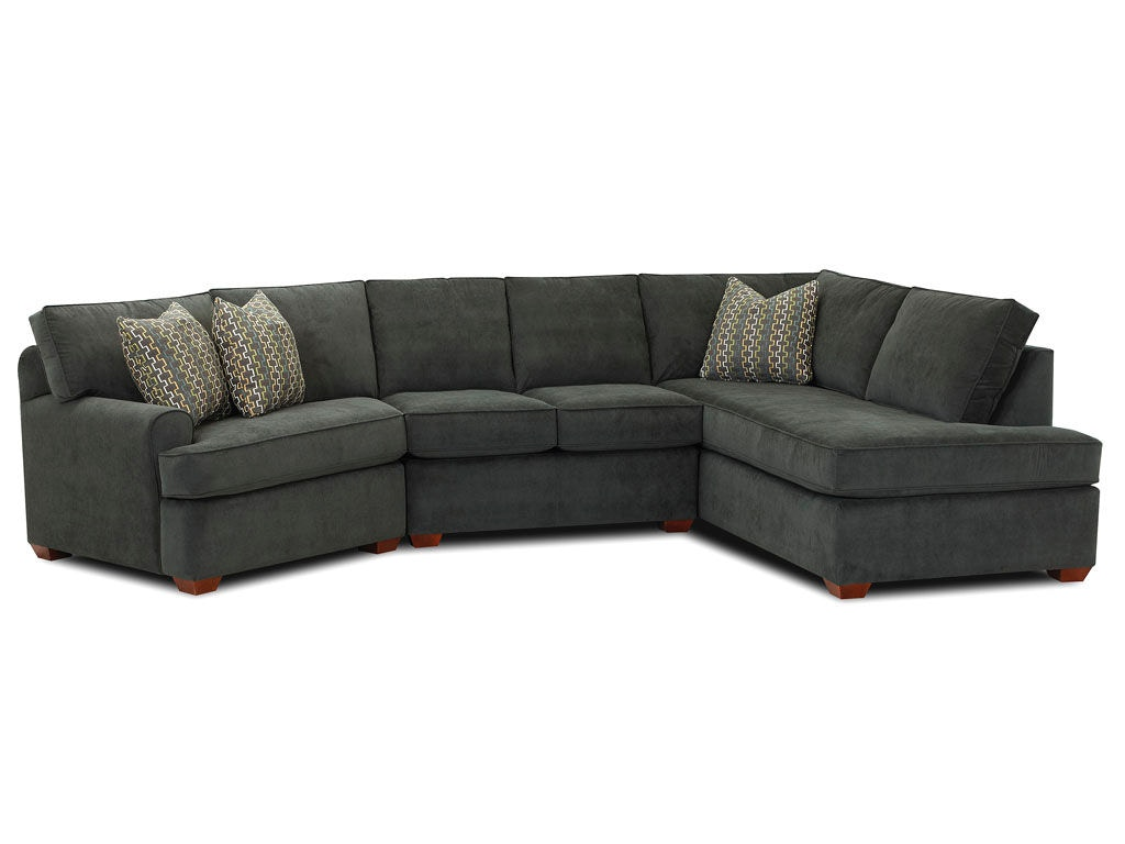 Klaussner Living Room Hybrid Sectional K FAB SECT