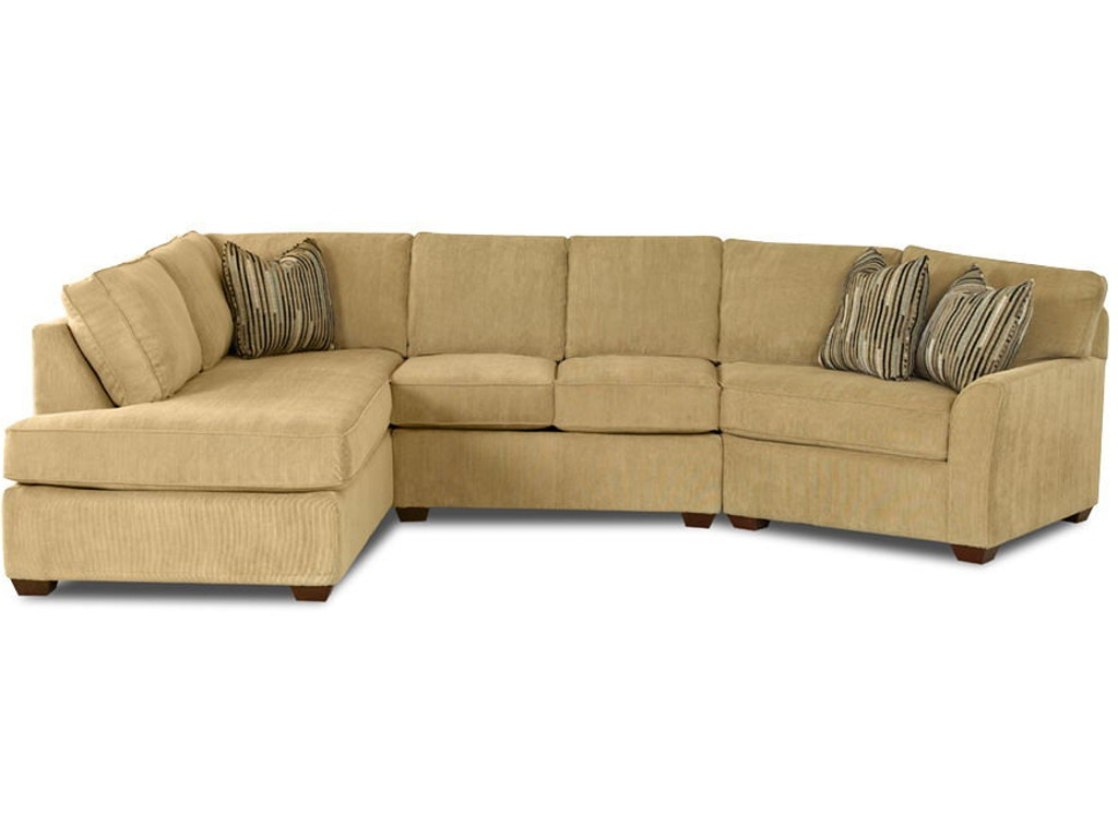 Klaussner Living Room Grady K55200 Fab Sect Hanks Fine