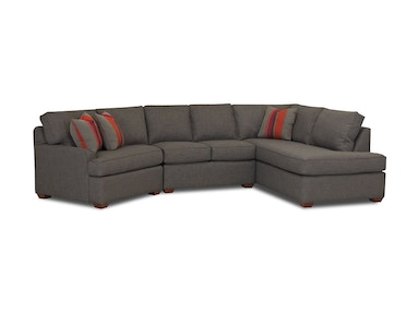 Klaussner Living Room Grady Fabric Sectional