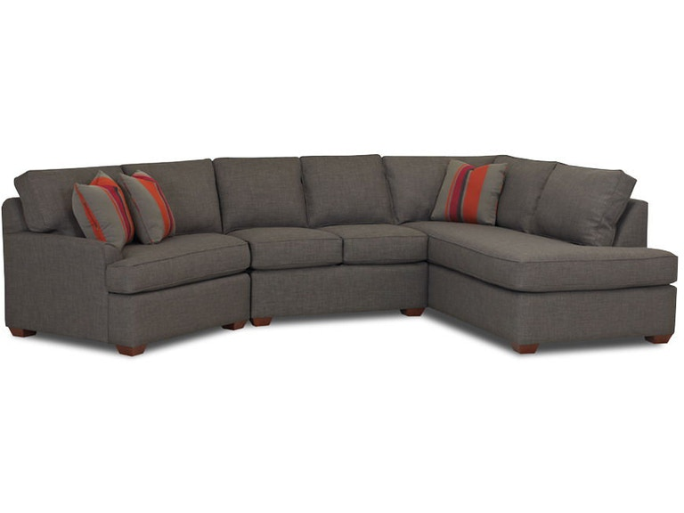Klaussner Living Room Grady Fabric Sectional K55260 Fab Sect Hamilton Sofa Leather Gallery