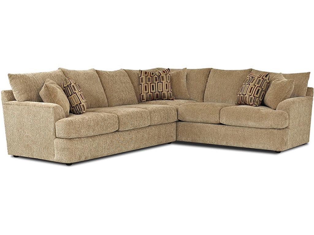 Klaussner Living Room Findley K56830 Fab Sect Hanks Fine