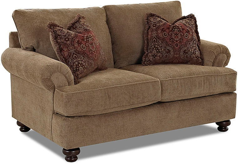 Living Room Furniture Raleigh Nc klaussner living room greenvale loveseats k73500f ls - klaussner