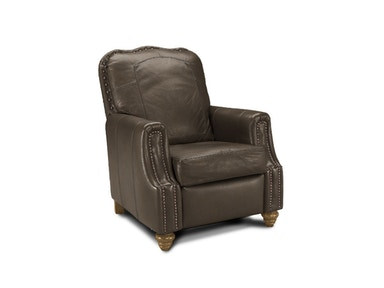 Klaussner Living Room Gabby High Leg Recliner With Leather