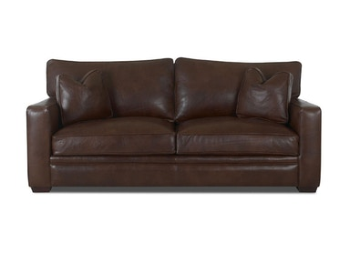 Klaussner Living Room Homestead Sofa w/Lthr