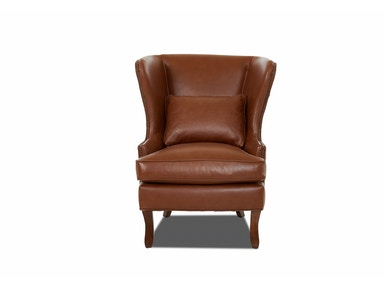 Klaussner Living Room Krauss Chair With Leather
