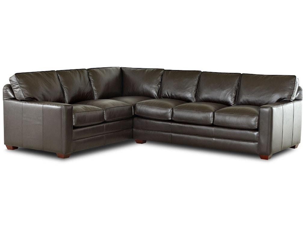Klaussner Living Room Pantego Ltd51400 Lth Sect Hanks
