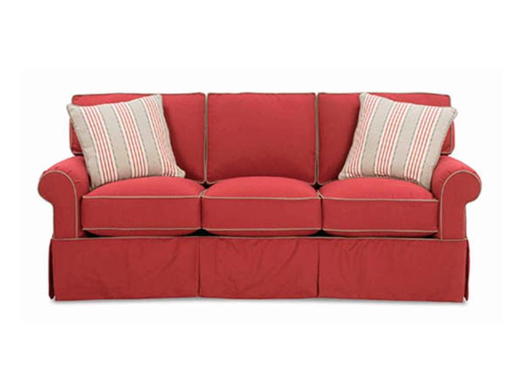 Rowe Living Room Hermitage Three Cushion Sofa 7880 Stahl