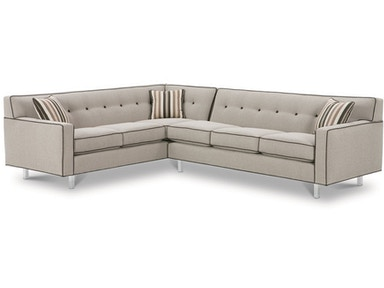 Rowe Dorset Chrome Leg Sectional K520C-Sect