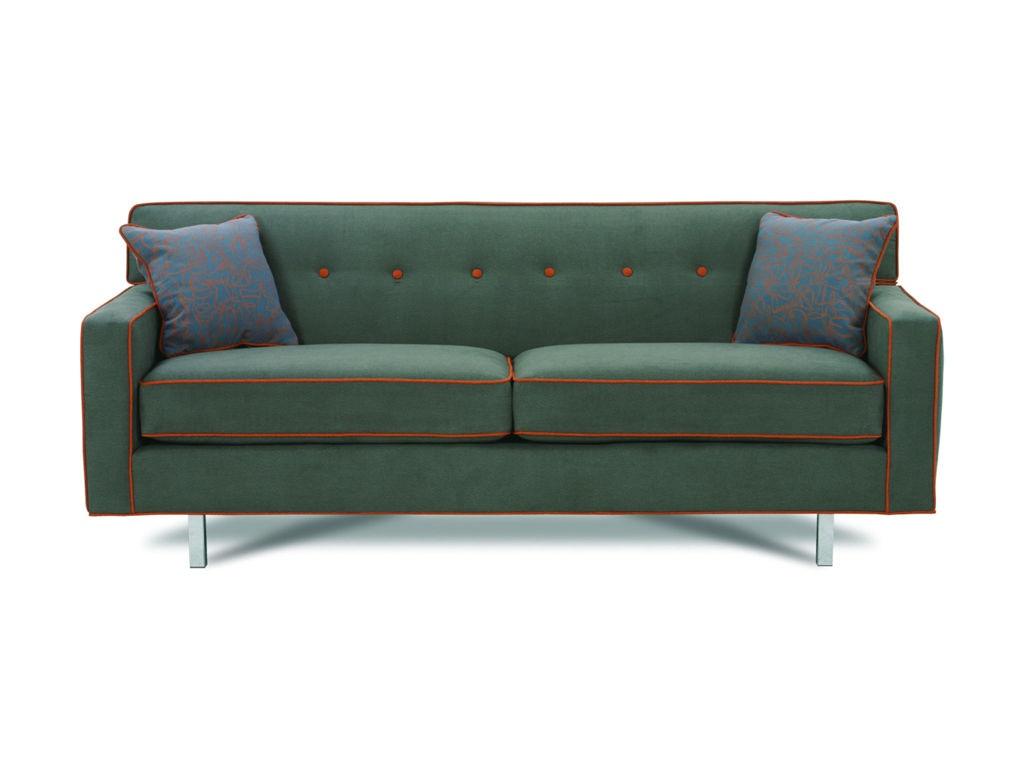 Rowe Dorset Chrome Medium Sofa K520RC 000