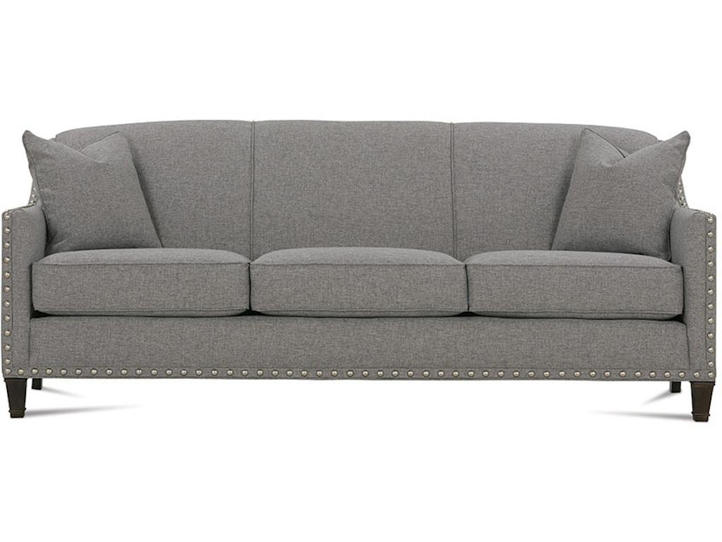 rowe living room rockford sofa with nailhead k580