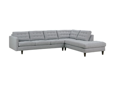 Rowe Modern Mix Button Back Sectional