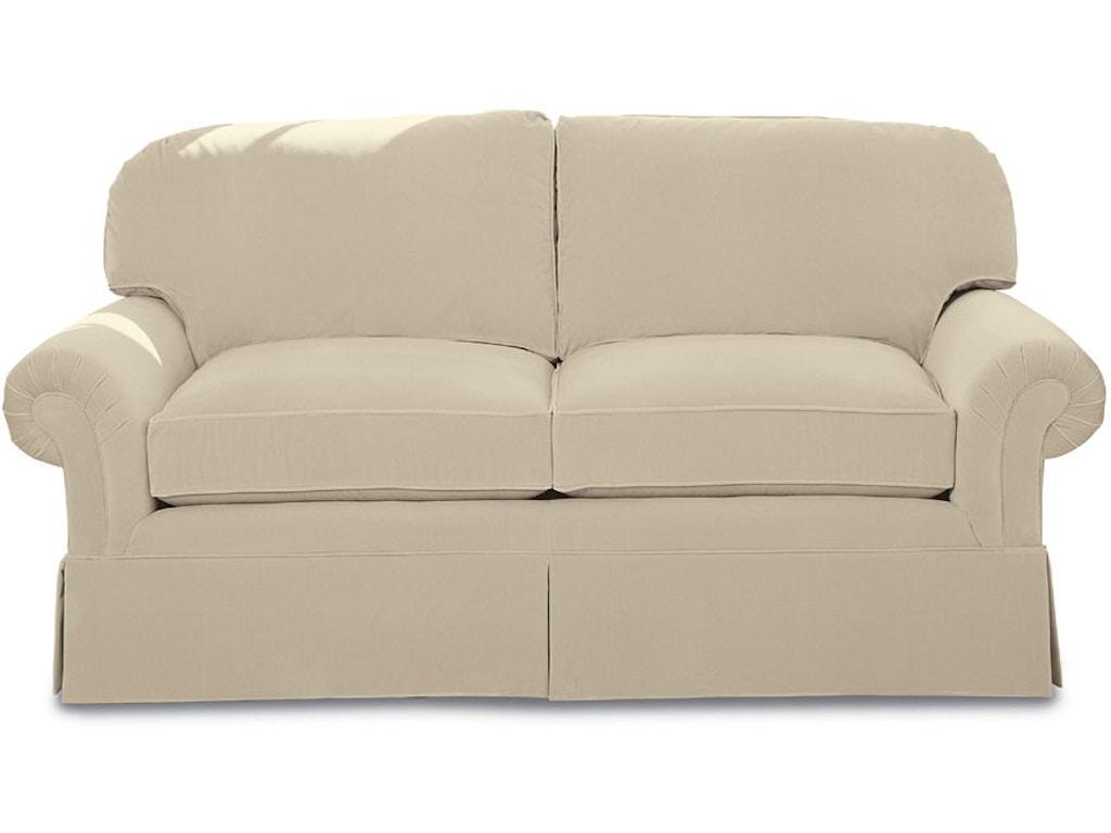 Kravet serenade pleated arm sofa 1l std b 74 n kravet for Sofa with only one arm