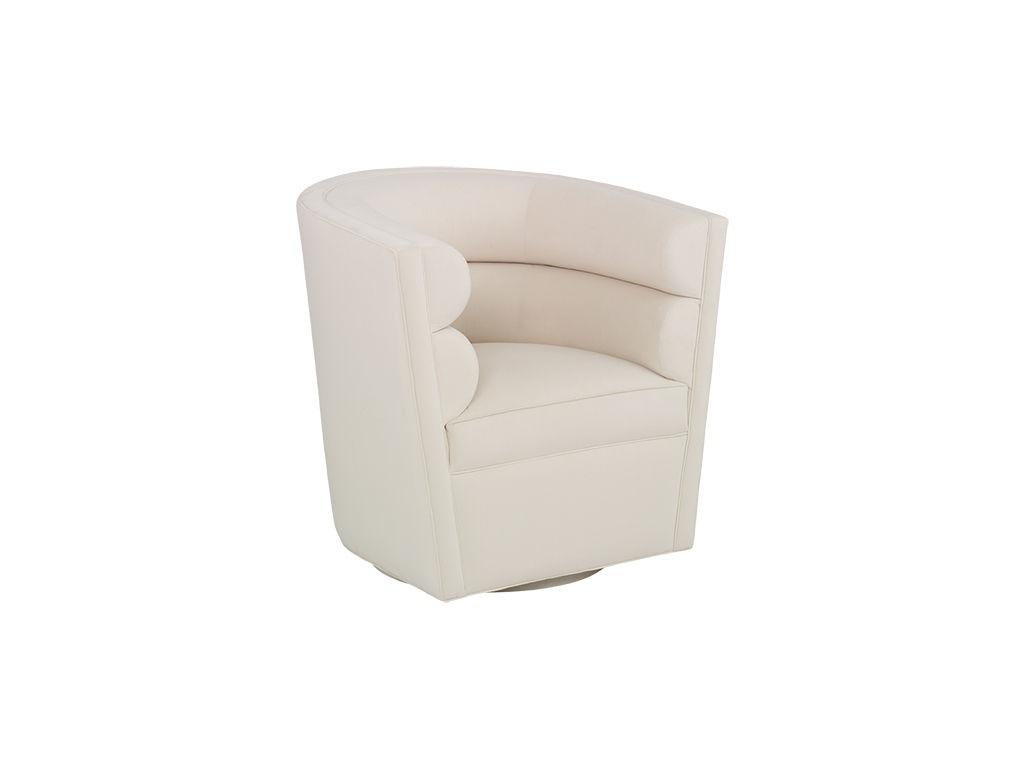 Kravet Alhambra Curved Swivel Chair AS640