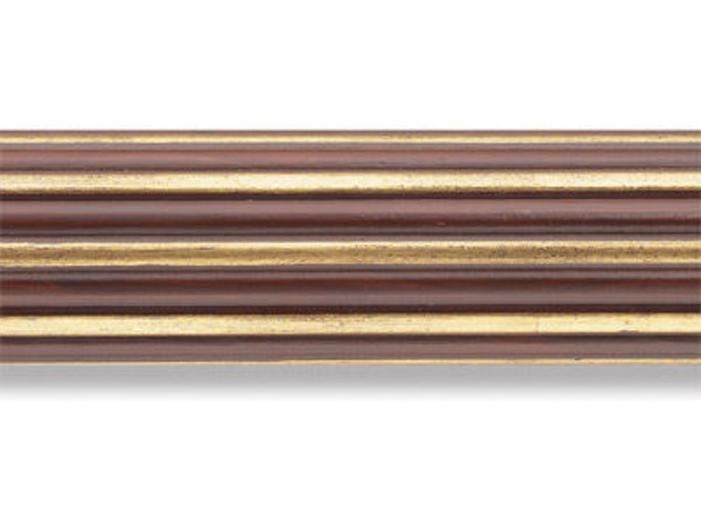 Kravet Reeded Pole-Mahogany/Gilded Gold HDW20023.644