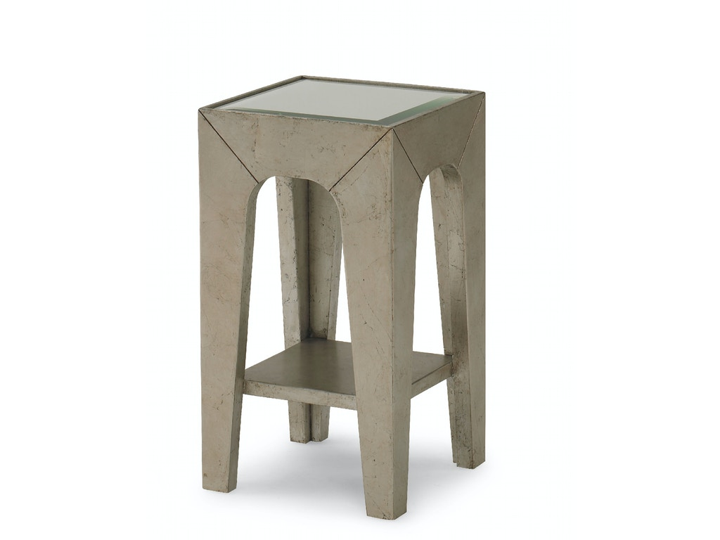 Kravet Slim Square Side Table, Mirror Top Ot531m1