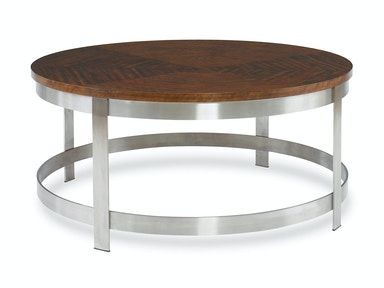 Kravet Asymetrical Mozambique and Steel Cocktail Table OT604