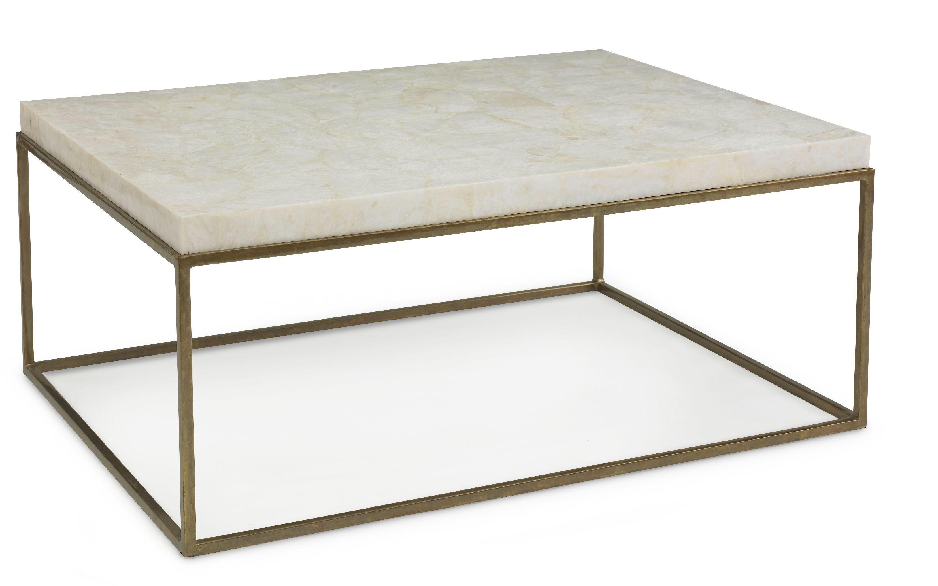 Kravet Brass/Crystal Stone Cocktail Table OT801B/C