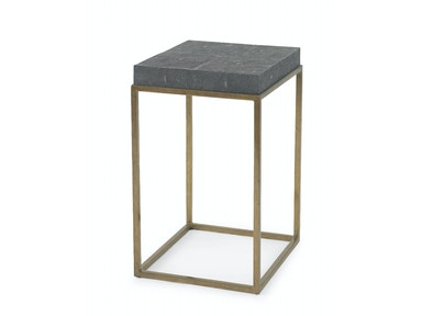 Kravet Brass/Faux Shagreen Side Table OT802B/S