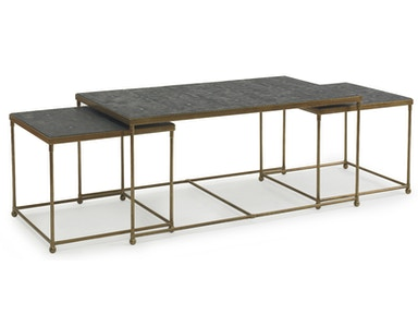 Kravet Brass/Faux Shagreen Nesting Cocktail Table OT803B/S
