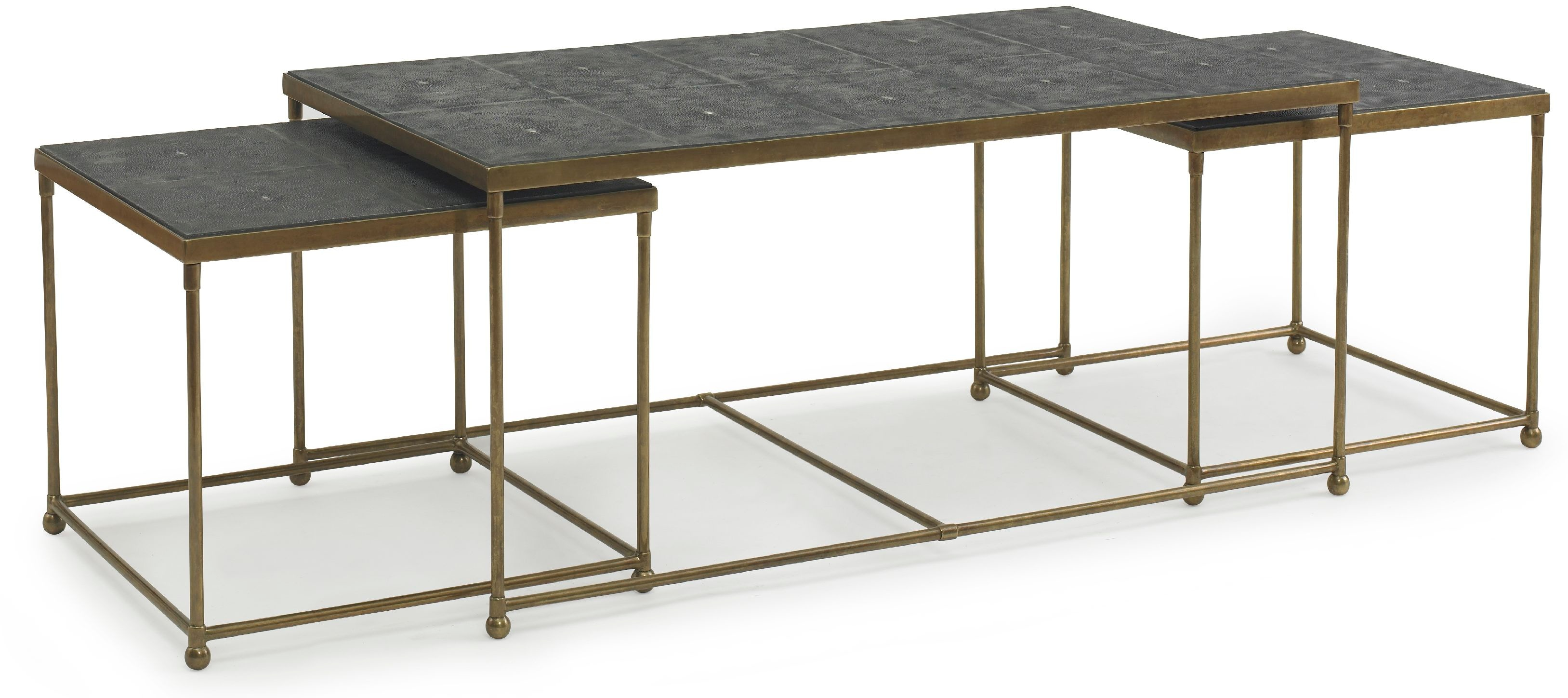 Kravet Brass Crystal Stone Cocktail Table OT801B C Kravet New