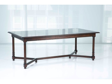 Kravet Fluted Rectangle Dining Table WD1/84RE IP CX AR