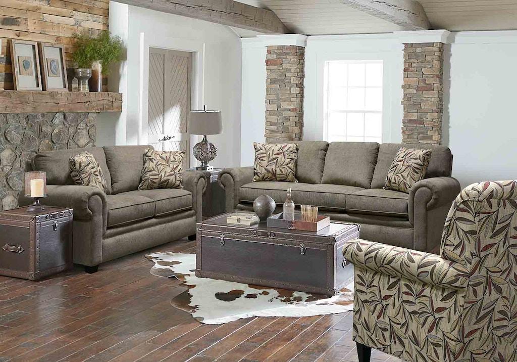England Living Room Brett Loveseat 2256 Arthur F Schultz