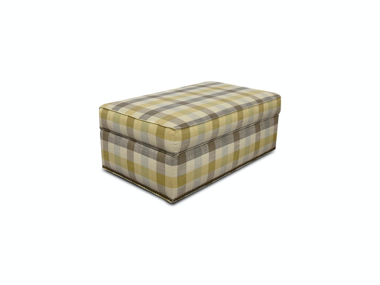 England Macy Ottoman with Nails 2A2081N