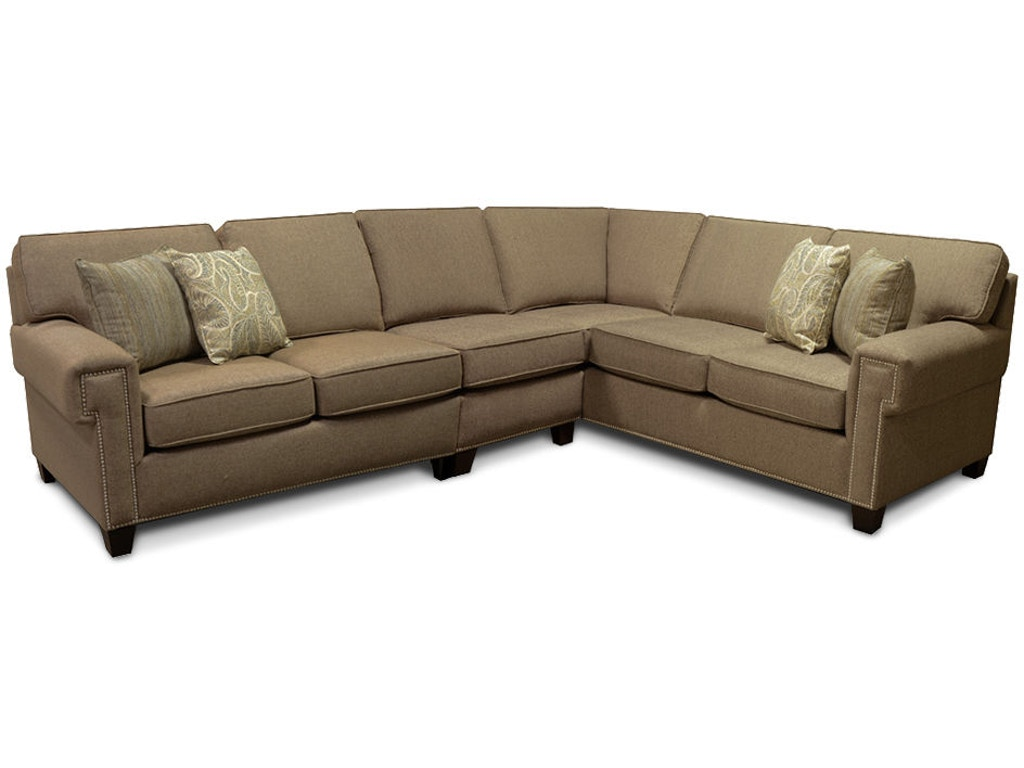 England Living Room Yonts Sectional With Nails 2y00n Sect
