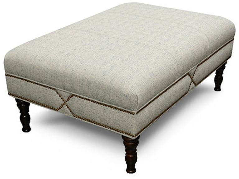 England Noe Cocktail Ottoman with Nails 3N07N
