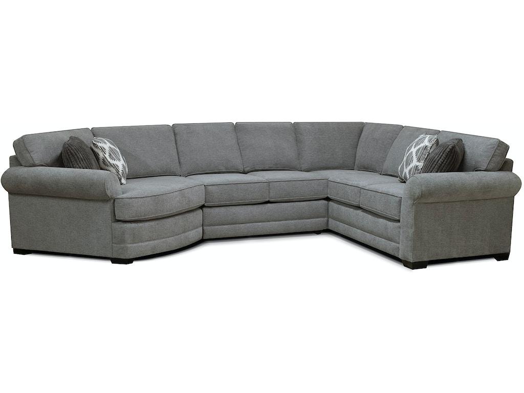 England Living Room Brantley Sectional 5630 Sect Nehligs Furniture Stratford Nj