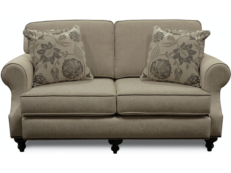 England Layla Loveseat with Nails 5M06N