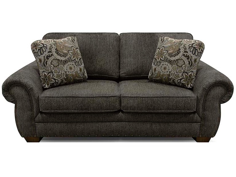 England Walters Loveseat with Nails 6636N
