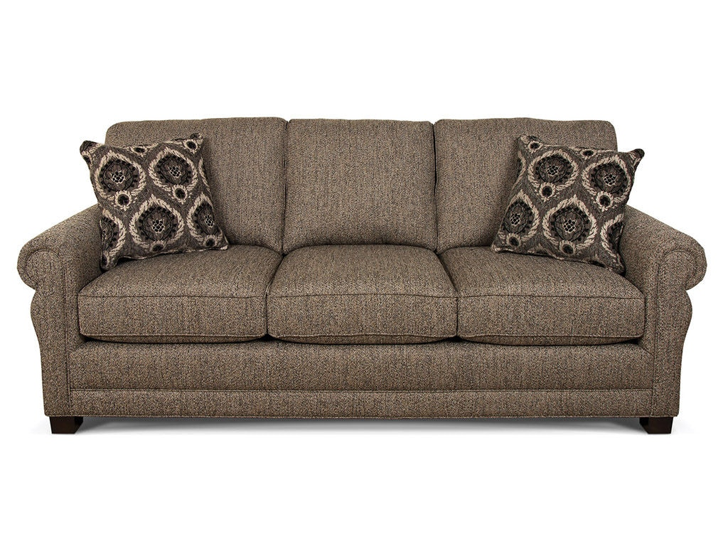 England Green Sofa 6935. Please Note That Pillows On Leather Are Not  Standard   These Are Sold Separately.