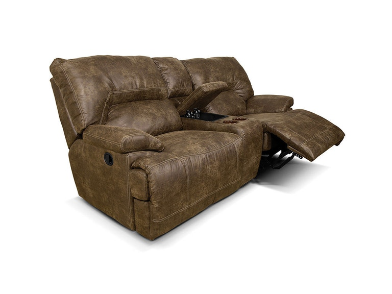 England Living Room Double Reclining Loveseat Console