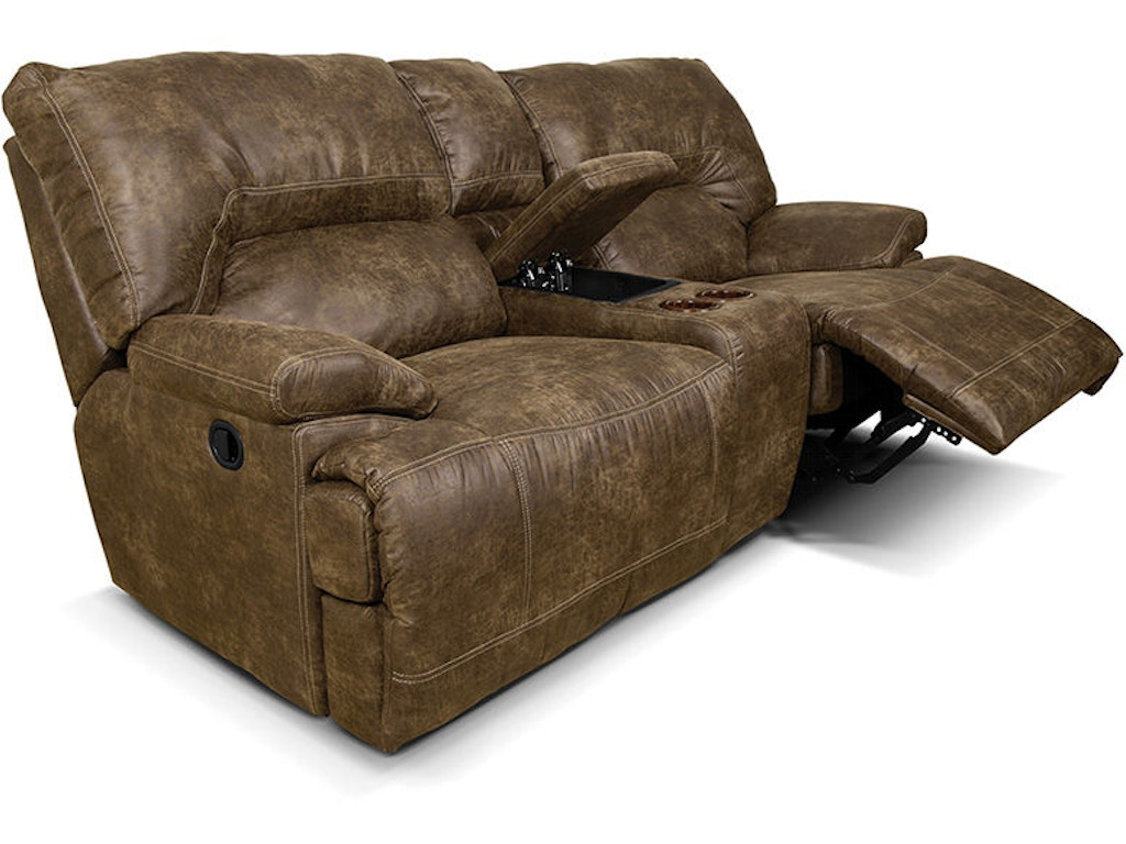 England Living Room Double Reclining Loveseat Console Ez13685 England Furniture New Tazewell Tn