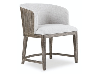 Curata Upholstered Chair w/wood back 1600-75800A-MWD