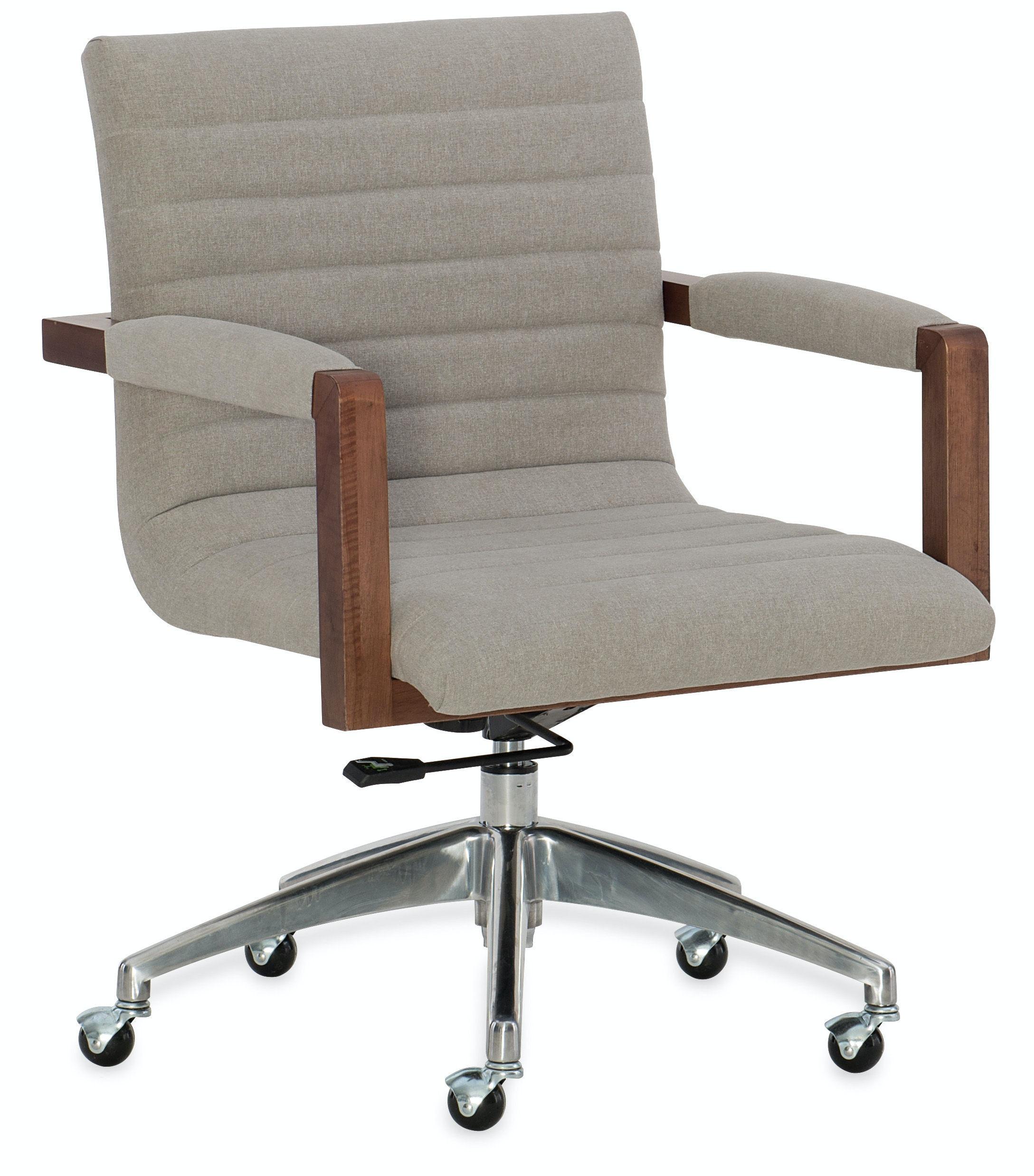 gray swivel office chair 75 vintage wooden. 1650-30220-MWD. Elon Swivel Desk Chair Gray Swivel Office Chair 75 Vintage Wooden T