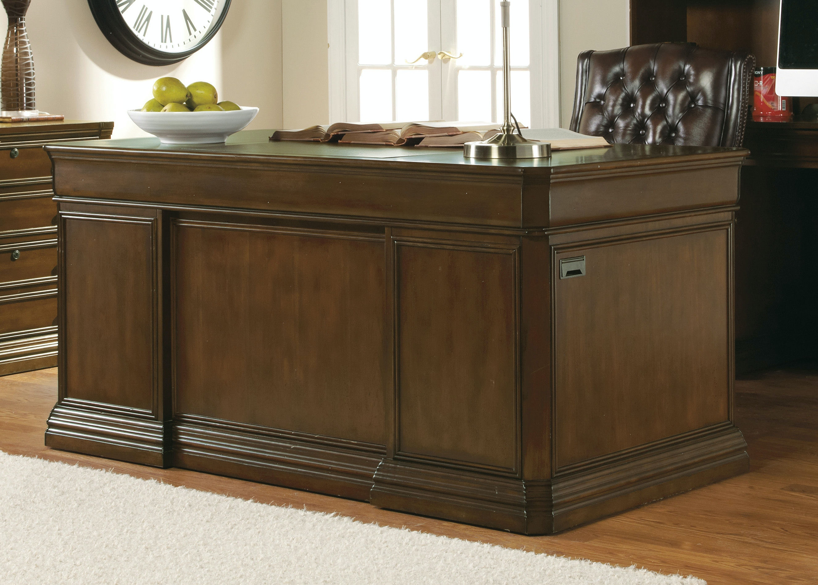 hooker furniture cherry creek 66 executive desk 258 10 563 cherry office furniture