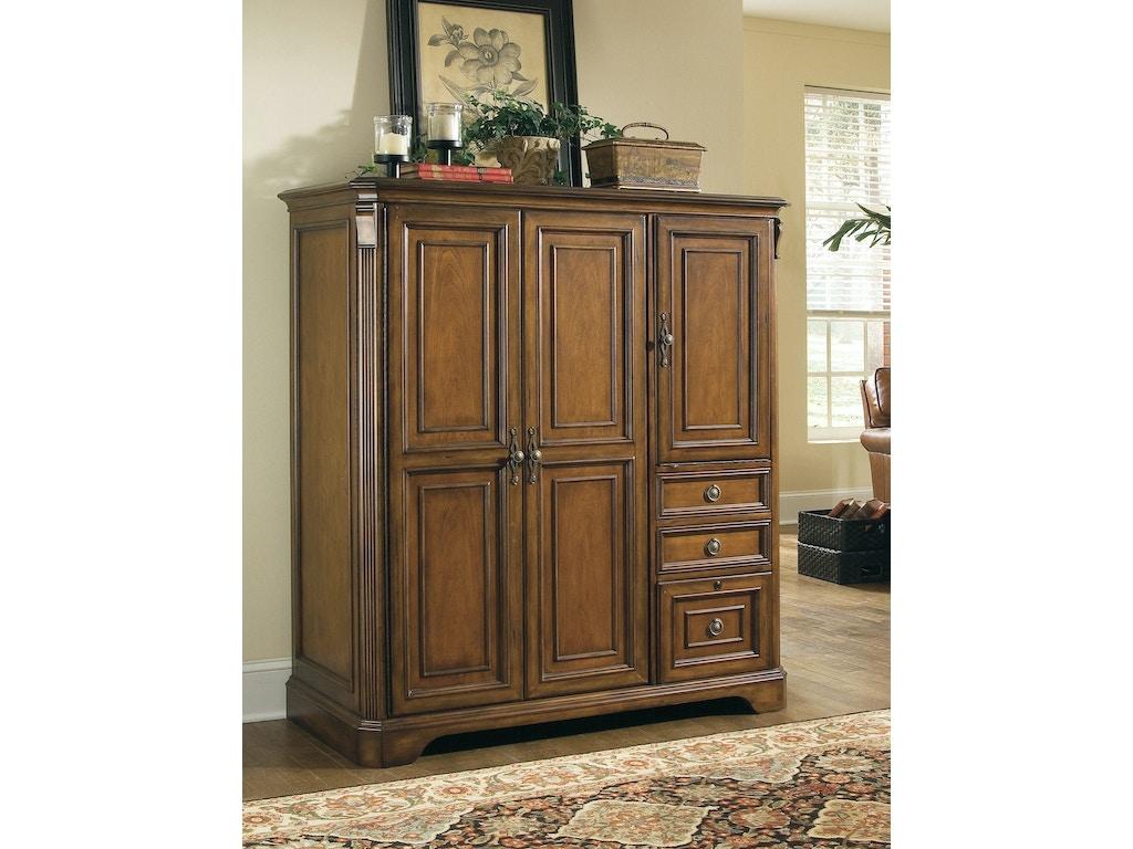 Hooker Furniture Home Office Brookhaven Computer Cabinet 281 10 309 Schmitt Furniture Company