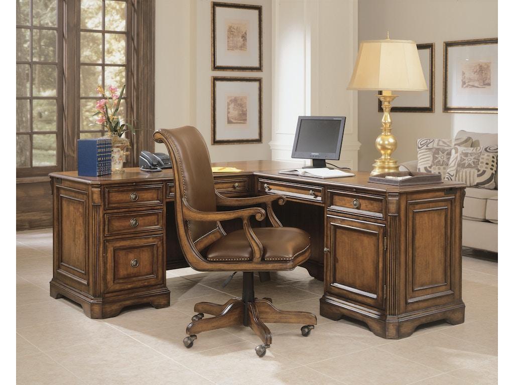 Hooker furniture home office brookhaven executive l right return 281 10 453 mcarthur furniture - Home office furniture canada ...