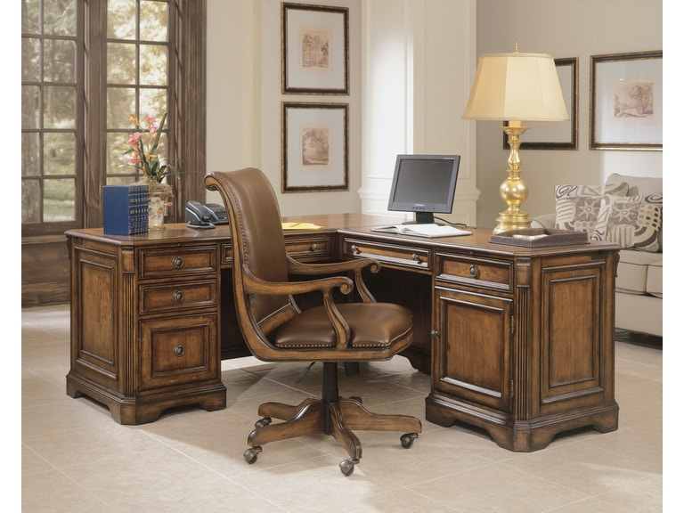 Hooker furniture home office brookhaven executive l right return 281 10 453 west coast living - Home office furniture orange county ...